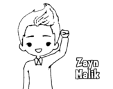 Disegno di Zayn Malik da colorare