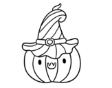 Disegno di Zucchini di Halloween da colorare
