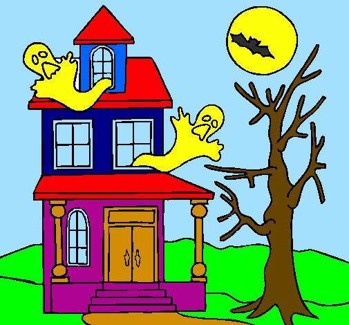 disegno casa del terrore colorato da utente non registrato