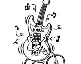 Disegno Chitarra elettrica  pitturato su xfwrvsd