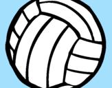 Disegno Pallone da pallavolo  pitturato su ANDREA