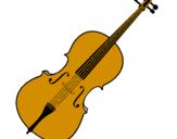 Disegno Violino pitturato su nadia     schettino