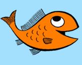 Disegno Pesce  pitturato su nemo