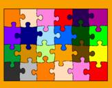Disegno Puzzle pitturato su pasol