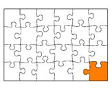 Disegno Puzzle pitturato su puffi