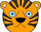 Disegno Tigre II pitturato su MELISSA