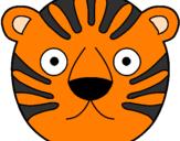Disegno Tigre II pitturato su gia