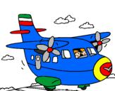 Disegno Aereo in fase di decollo  pitturato su nicola