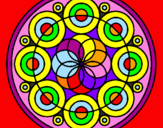 Disegno Mandala 35 pitturato su giorgia sigolotto