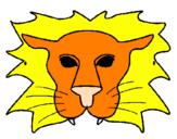 Disegno Leone pitturato su MELISSA