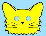 Disegno Gatto  pitturato su denise 98