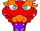 Disegno Drago pitturato su micis