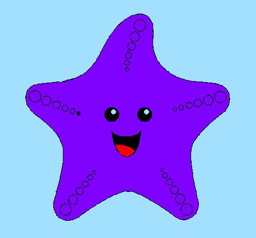 disegno stella di mare colorato da utente non registrato il 10 di ... - Disegno Stella Colorate