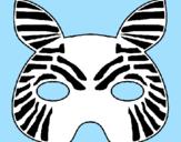 Disegno Zebra  pitturato su Davide B.