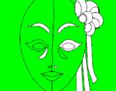 Disegno Maschera italiana  pitturato su gjjhh.lgiyuitukfyhhhhhhhh