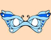 Disegno Maschera pitturato su martina