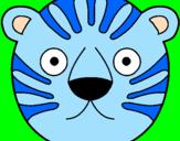 Disegno Tigre II pitturato su denise 98