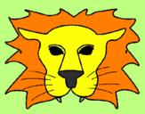 Disegno Leone pitturato su Davide B.