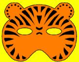Disegno Tigre  pitturato su Davide B.