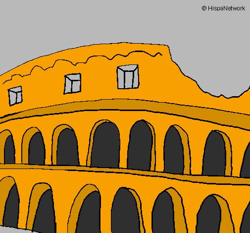 Disegno colosseo colorato da utente non registrato il 21 for Colosseo da colorare