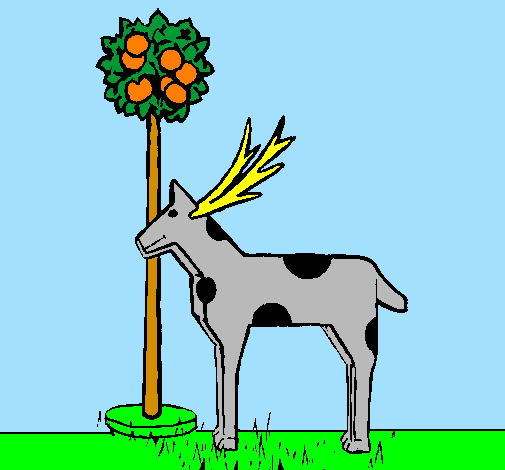 Disegno mucca di cartone colorato da utente non registrato