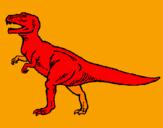 Disegno Tyrannosaurus Rex  pitturato su alessio pani