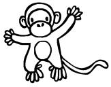 Disegno Scimmietta pitturato su filippo