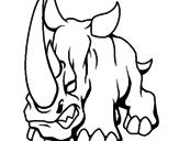 Disegno Rinoceronte II pitturato su    htuioì