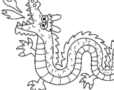 Disegno Drago sputa fuoco II pitturato su dragonball