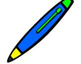 Disegno Biro pitturato su penna