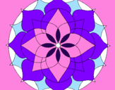 Disegno Mandala 14 pitturato su mandala