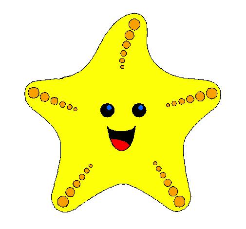 disegno stella di mare colorato da utente non registrato il 28 di ... - Disegno Stella Colorate