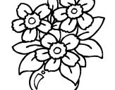 Disegno Vaso di fiori  pitturato su MARTINA