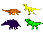 Disegno Dinosauri di terra  pitturato su Andrea Pongiluppi