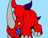 Disegno Rinoceronte II pitturato su marcello b