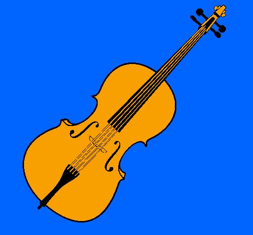 Disegno violino colorato da utente non registrato il 31 di - Immagini violino a colori ...