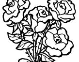 Disegno Mazzo di rose  pitturato su alessia