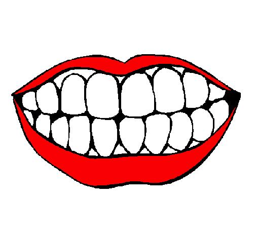 Disegno bocca e denti colorato da utente non registrato il for Bocca da colorare