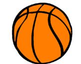 Disegno Pallone da pallacanestro pitturato su guglielmo    vannacci