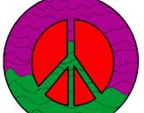 Disegno Simbolo della pace pitturato su YOSCI