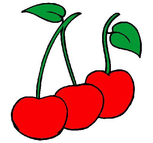 Disegno ciliegie colorato da utente non registrato il 01 for Disegni da colorare ciliegie