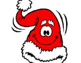 Disegno Berretto di Babbo Natale  pitturato su ivan