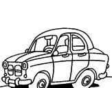 Disegno Auto da città  pitturato su Lorenzo