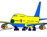 Disegno Aereo in pista  pitturato su PILOTA RYANAIR