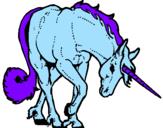 Disegno Unicorno brado  pitturato su elisa mastrangeli