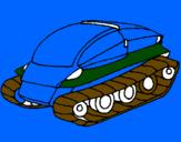 Disegno Nave carro armato pitturato su  manuel   mazzei