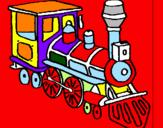Disegno Treno  pitturato su il mio trenino