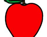Disegno mela  pitturato su s