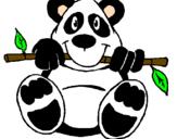 Disegno Orso panda  pitturato su giuseppe