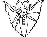 Disegno Vampiro agghiacciante  pitturato su michele